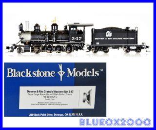 Blackstone HOn3 D&RGW C 19 2 8 0 No. 347 Tsunami DCC & Sound B310204