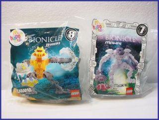 Lot 2 McDonalds Lego Bionicle Mahri Toa Matoro Barraki Carapar