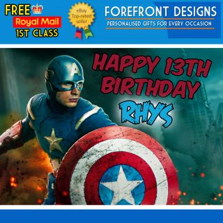 Assemble Captain America Marvel Birthday Greeting Card A5