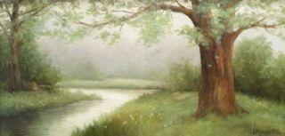 Laura Mann Original Oil Painting Landscape Hunting Woodland Signed