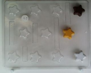 Stars Bite Size Pieces Chocolate Candy Mold