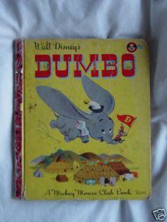 Dumbo Walt Disneys A Mickey Mouse Club Book Vintage 47