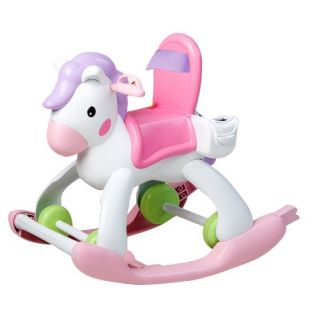 The Fisher Price Little Mommy Rocking Horse and Stroller features