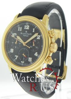 BlancPain Flyback Mens 18K Rose Gold Chrono LE Watch NR