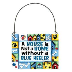 Blue Heeler Dog Sign Door Hanger All Breeds Available