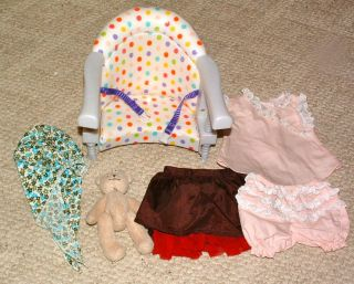 American Girl Doll Bitty Baby Chair & Clothes