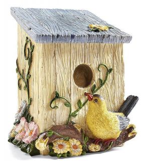 Birdhouse Shaped Decorative Miniature Trash Bin Trash Can Bathroom 3D