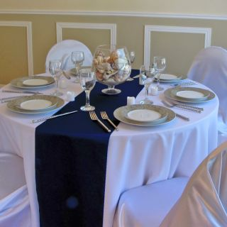 10 Navy Blue Satin Table Runners Wedding Decor Bridal