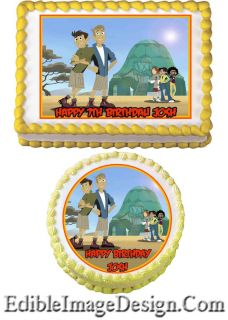 Wild Kratts Edible Birthday Party Cake Image Cupcake Topper Favor