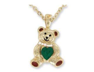 New Kids Girl Birthstone Birthday Necklace Bear Set Gift Easter Teddy