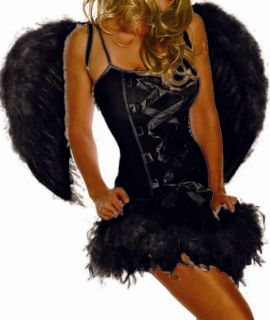 Black Fallen Angels Halloween Costume Fancy Dress Angel Wing Lost