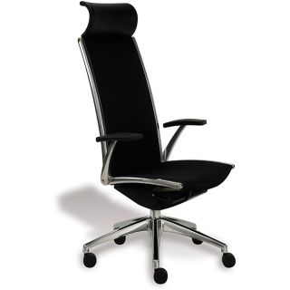 modern black leather office chair black leather