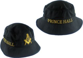 Prince Hall Mason Big Emblem Mens Floppy Bucket Mesh Hat