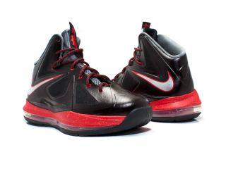 Nike Basketball Lebron 10 GS Black Chrome University Red Grey 543564