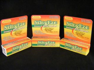 tube stingeze insect bug bite bee sting ticks relief