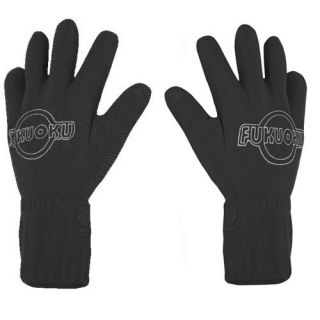 Five Finger Full Body Vibrating Massage Gloves Black Pair Both Hands