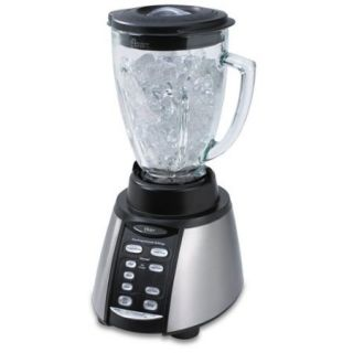 Cup Glass Jar 7 Speed Blender, Brushed Stainless/Black