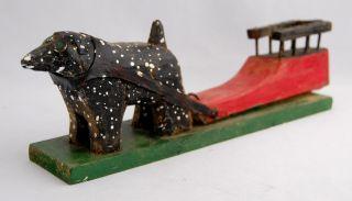 Emile Bluteau Folk Art Primitive Carving Listed Quebec Canadian Dog