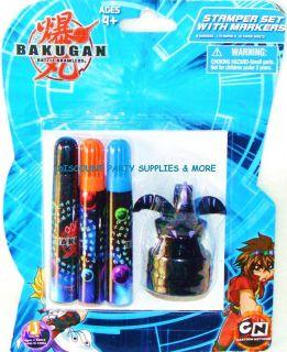 Bakugan Battle Brawler Black 3D Stamper Marker Pad Set