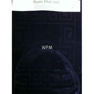 Piece Bathroom Rug Set Black Bath Rugs Anti Slip Mat