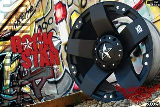 Listing for ONE (1) SET 22x9.5 KMC Rockstar Matte Black Rims only