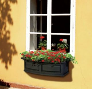 Newport Polyethylene Window Box 4 Black 390837