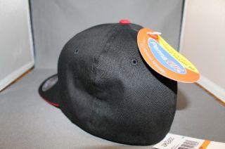 fox racing flexfit hat cap speed freak black red