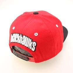 Chicago Blackhawks NHL Snapback Hat Cap REFRESH Red Black