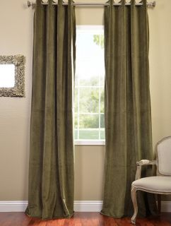 Hunter Green Grommet Velvet Blackout Curtains Drapes