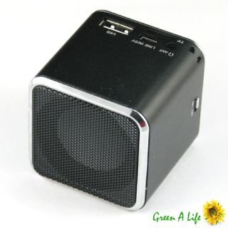 Black Music Angel Speaker with LCD Display for iPhone 4 4S Micro SD TF