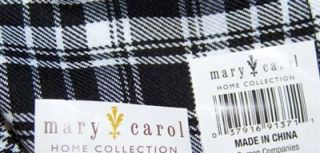 New Mary Carol Black & White Plaid Tablecloth Round Table Topper