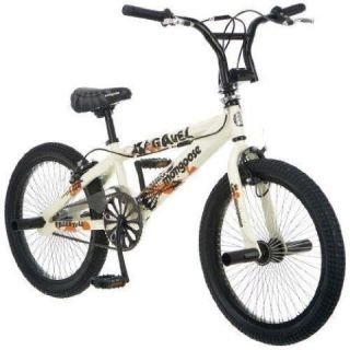 New Mongoose 20 Gavel Freestyle BMX Bicycle Bike Cream Color R2370