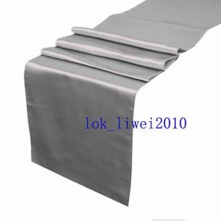 5pcs New Silver Satin Table Runners 12 x 108 Wedding