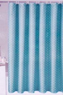 Blue White Polka Dots Fabric Shower Curtain Bathroom Bath Geometric