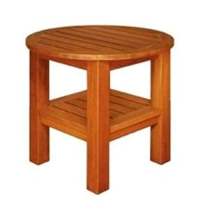 Blue Star Group Terrace Mates Two Shelf Round High End Table