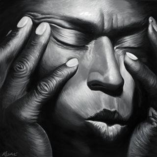 Miles Davis Jazz Musician CD Portrait Painting Canvas Art Giclee Print