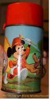 1963 Disney Mickey Mouse Club LUNCH BOX & Thermos Aladdin w/ Partridge