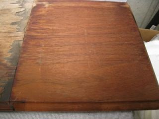 Willcox Gibbs Treadle Sewing Machine Cabinet Top with Drop Down Leaf