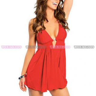 Bland New Red Sexy Women Lingerieunderwear Dress G String Sleepwear