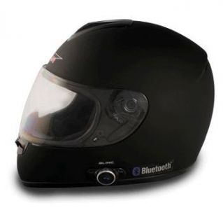 Bluetooth Fullface Motorcycle Helmet Flat Black Medium