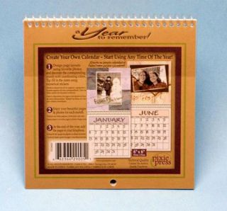 blank scrapbooking calendar 12 month pages kit