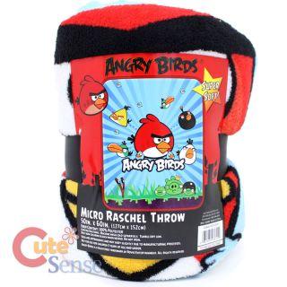 Rovio Angry Birds Microfiber Blanket Plush Throw 50x60 Licensed