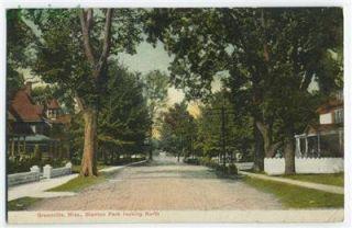 Greenville Mississippi Blanton Park Street Scene postcard 1910