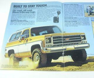 1979 79 Chevrolet Chevy Blazer Truck Brochure C10 K10