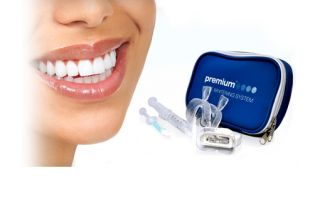 Home Teeth Whitening System w/ Whitening Gel, Desensitizing Gel & Tray