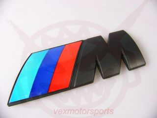 BMW M Sport Matte Black Trunk Badge Emblem Logo E39 E36 E60 E46 E90