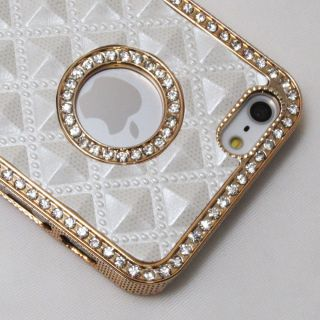 Gold Luxury Rhinestone Diamond Bling Back Case Cover for iPhone 5 5G