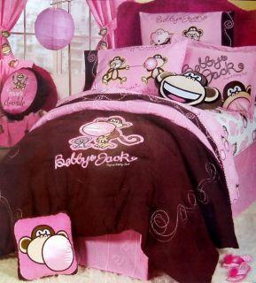 Bobby Jack Monkey Burst My Bubble Twin Comforter Sheets 4pc Bedding