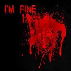 Fine Im Gun Blood Flesh Funny Zombie Heart Bloody T Shirt