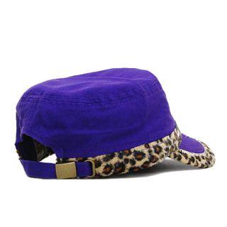 Cross Bling Cheetah Print Baseball Cap Hat Cap Cadet Military Style